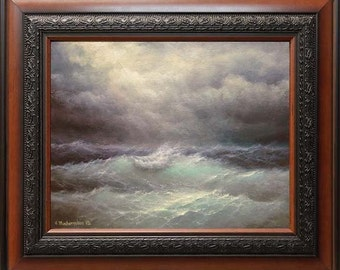 """Hurricane Isaac,  11""""x 14"""" FRAMED original oil on canvas painting"""