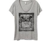 Womens TAROT CARD Boho Gypsy Bohemian Oversized Slouchy Short Sleeve Tee T shirt screen print Top Alternative Apparel S M L XL More colors
