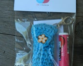 Crochet Lip Balm Holder Gift Set w/ Lobster Clasp