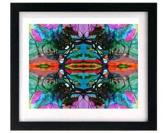 Signed Abstract Organic Symmetrical Fractal Pen & Ink Giclée Print