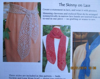 Knit The Skinny on Lace Pattern by Jackie Erickson-Schweitzer