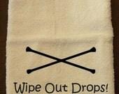 Wipe Out Drops! Baton Twirler Hand Towel
