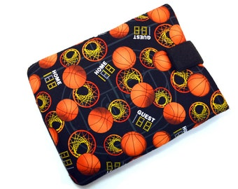 Hand Crafted Tablet Case from Basketball Fabric/Case for Apple  iPad, Samsung Galaxy, Kindle Fire HD, Nook HD