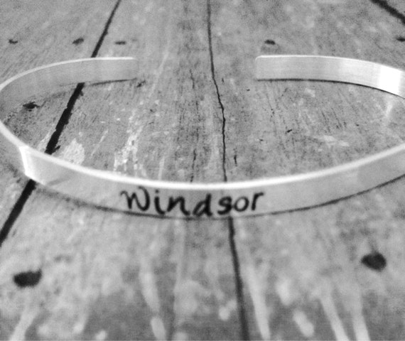 Personalized Cuff Bracelet, Sterling Silver, Custom made, Hand Stamped, Name, Verse, Quote, Monogram Adjustable Size, Cuff Bracelet