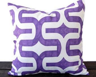 Purple throw pillow cover decorative throw pillow cover grape purple cushion pillow sham