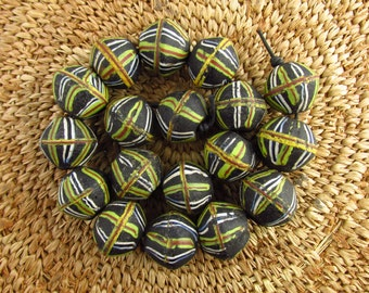 "Antique Venetian ""King"" Glass Trade Beads"