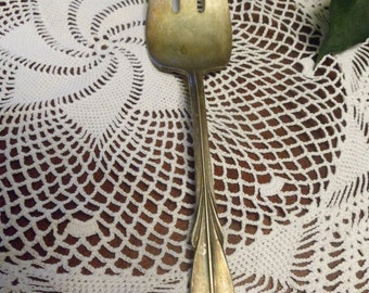 WM Rogers Mfg. Co.  Original Rogers Silver Plated Large Salad Fork    (T)