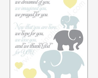Digital Download - Elephant theme Baby Saying