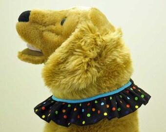 Dog Clown Collar Ruffle  Size Large Polka Dots  Dog Costume