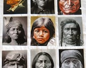 Set of 9 POSTCARDS with Stu Braks' Paintings, American Indian Series 1