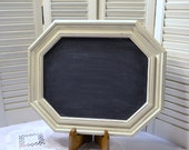 Chalkboard Blackboard White Wedding Shabby Vintage Frame Upcycle Recycle Handmade LittlestSister