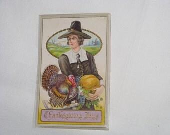Vintage Used Thanksgiving Joys Post Card