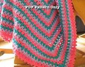 Crochet Baby Blanket PDF Pattern Crochet Baby Afghan ePattern Striped Baby Blanket Modern Baby Afghan DIY Tutorial