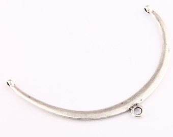 Large Silver  Necklace Collar Pendant Connector, 1 piece // SPP-187