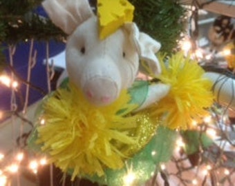 Packer Pig Christmas Ornament