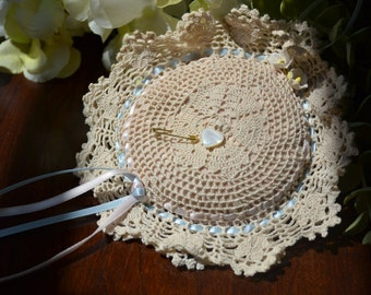 Vintage Handmade Crocheted Pin Cushion Pillow