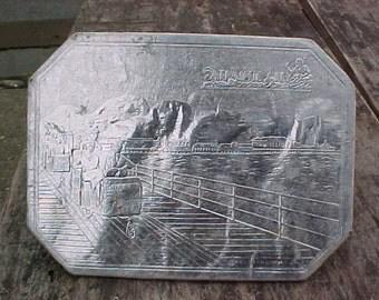 Atlantic City Boardwalk vintage trivet hotpad silver foil commemorative