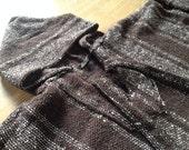 vintage 90s Baja pullover hoodie. drug rug. roughly woven textile.
