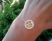 Forever Rose Bracelet Gift for Her Diamond CZ 14K Gold filled Friendship bangle chain Holiday gifts for Her love gift