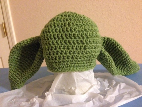 Yoda Crochet Childs Hat by JaneH1954 on Etsy
