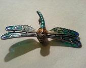 Lauren Taylor Sterling Silver Dragonfly Brooch - Marcasite Eyes