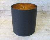 items similar to extra large xl drum lamp shade lampshade black linen. Black Bedroom Furniture Sets. Home Design Ideas