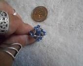 Stunning Ring-Blue Ice Crystal Rhinestone-Adjustable- R349