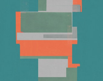 Abstract composition 536  - modern art  - minimal art - 60 x 84 cm - A1 - Limited edition