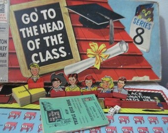 1955 Go To The Head of the Class Milton Bradley Game :)S