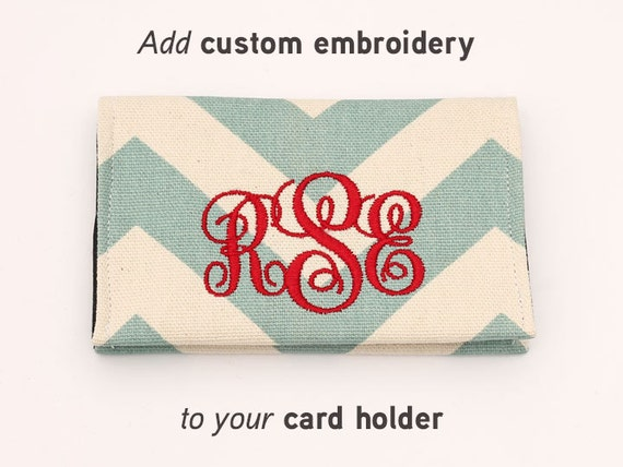 Add embroidery one letter or monogram initials for by