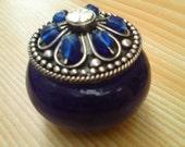 Darkly Mysterious Homemade Solid Perfume in Handmade murano jar.