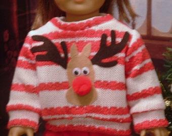 Ugly Christmas Sweater for American Girl/Boy