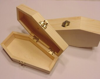 wood Coffin, 3 x 6 inch high (BR3)
