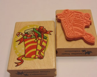 LARGE Christmas gift rubber stamp, 65 mm (HR16)