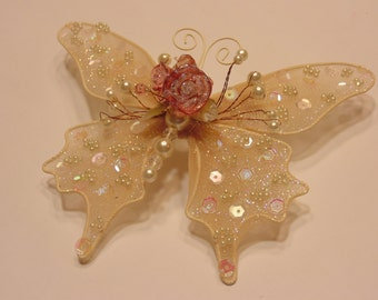 Large beaded butterfly, 120 x 150 mm (HR21)