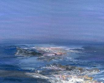 Giclee Textile / Mixed Media Art Print 'Magenta Sea'