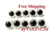 9mm Safety Eyes Plastic Eyes Animal Eyes Bear Eyes With Washers-- white-10pairs