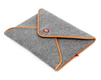 iPad Case Tablet Case Wool Felt Tablet Sleeve for iPad Air 2 1 iPad Cover Leather Handbag Phone Case with Leather Edge