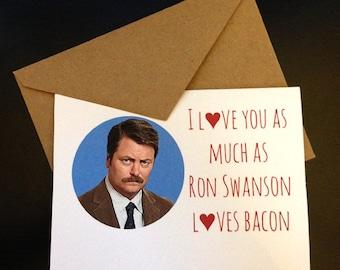 Ron Swanson Card