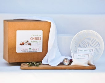 Goat Chevre Cheese Making Kit - Makes delicious goat chevre cheese at home with a complete kit for easy to make home made cheeses