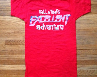 Bill and Ted's Excellent Adventure 1989 promo film tshirt.
