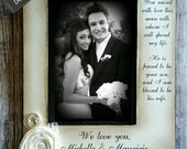 You Raised with love this man with whom I will spend my life.. Parents of the Groom GIft Wedding 5x7  Picture Frame Keepsake Sign 4x6