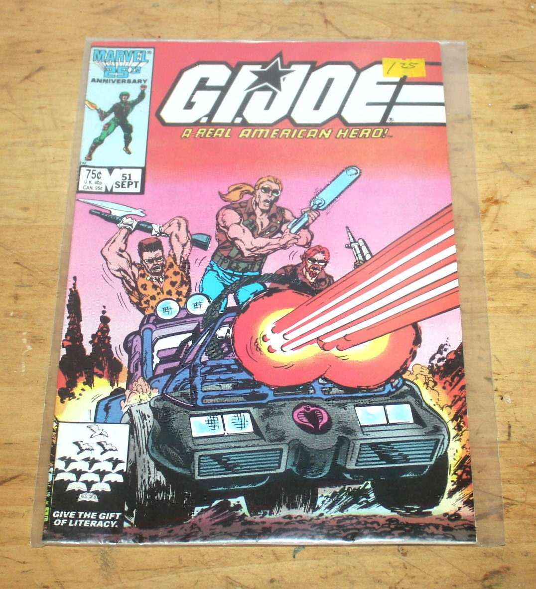Free Comic Book Day Price Guide: Vintage Comic Book G.I. Joe A Real American Hero No. 51