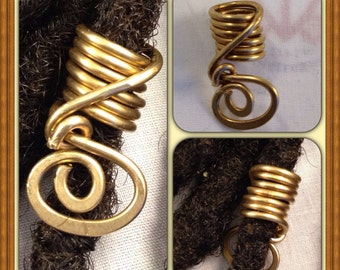 Bronze  Dreadlock Bead Accessories