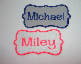 Name Patch, Name Tag, Personalized Scroll Name Iron On Patch