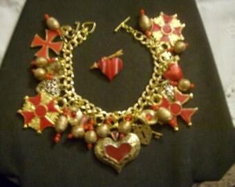 Love Arrested OOAK Charm Bracelet by Kay Creatives