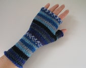 Merino Wool Colourful Fingerless Gloves