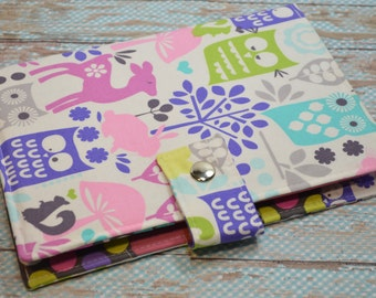Planner Cover - in Michael Miller Forest Life fabric - F2