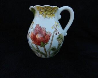 Ceramic Pitcher: Hand decorated pitcher