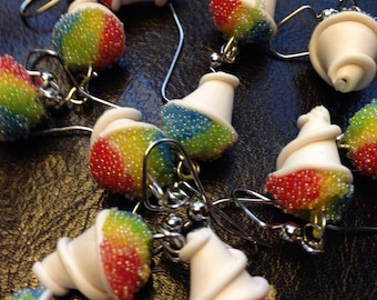 snow cone earrings